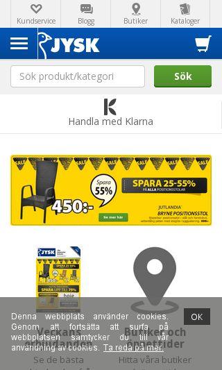 Mobile preview of jysk.se