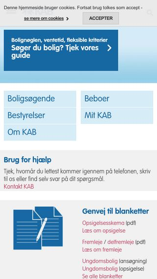 Mobile preview of kab-bolig.dk