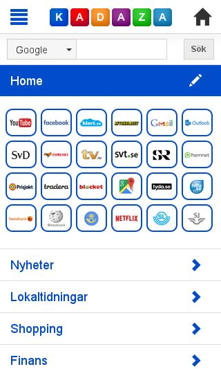 Mobile preview of kadaza.se