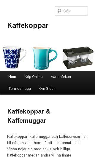 Mobile preview of kaffekoppar.nu