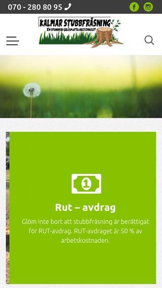 Mobile preview of kalmarstubbfrasning.se