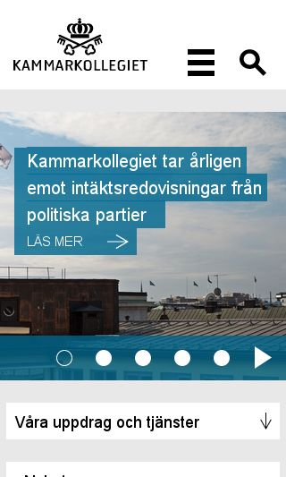 Mobile preview of kammarkollegiet.se