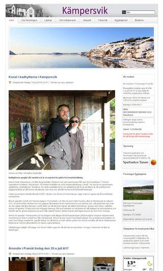 Mobile preview of kampersvik.se