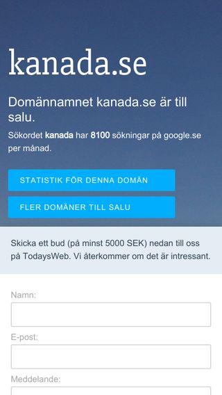 Mobile preview of kanada.se