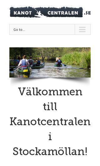 Mobile preview of kanotcentralen.se