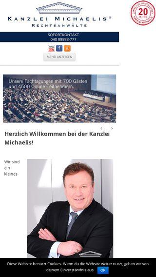 Mobile preview of kanzlei-michaelis.de