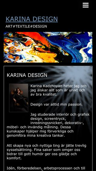 Mobile preview of karinadesign.se