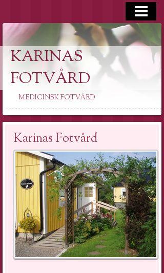 Mobile preview of karinasfotvard.se