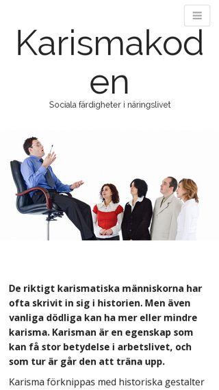 Mobile preview of karismakoden.se