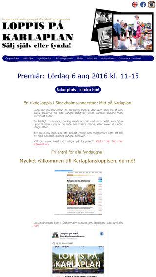 Mobile preview of loppistajm.se