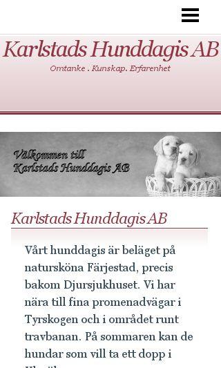 Mobile preview of karlstadshunddagis.se