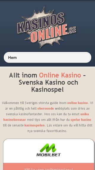 Mobile preview of kasinosonline.se