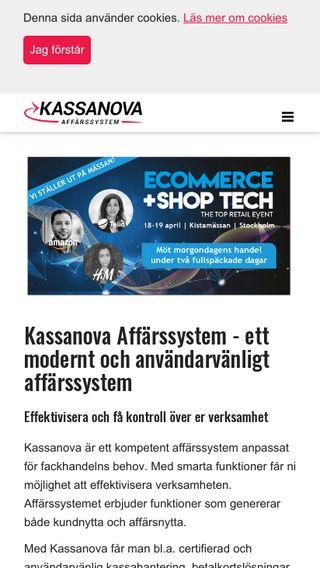 Mobile preview of kassanova.se