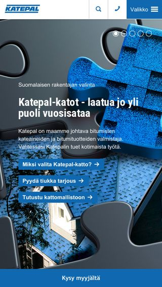 Mobile preview of katepal.fi