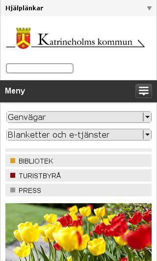 Mobile preview of katrineholm.se
