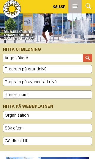 Mobile preview of kau.se