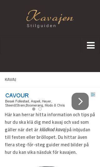 Mobile preview of kavajonline.se