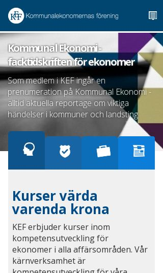 Mobile preview of kef.se
