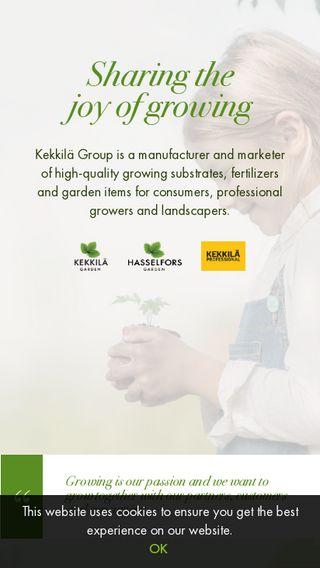 Mobile preview of kekkila.com