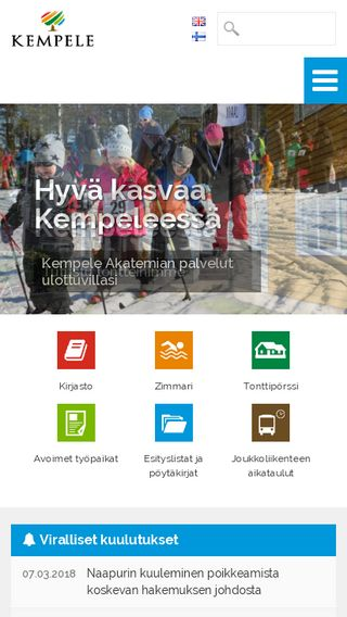 Mobile preview of kempele.fi