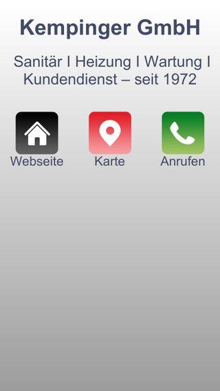 Mobile preview of kempinger.de