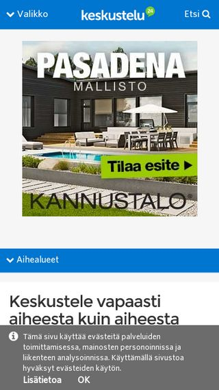 Mobile preview of keskustelu.suomi24.fi
