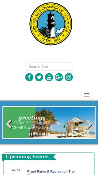Mobile preview of keybiscaynechamber.org