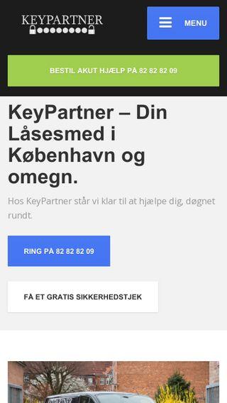 Mobile preview of keypartner.dk