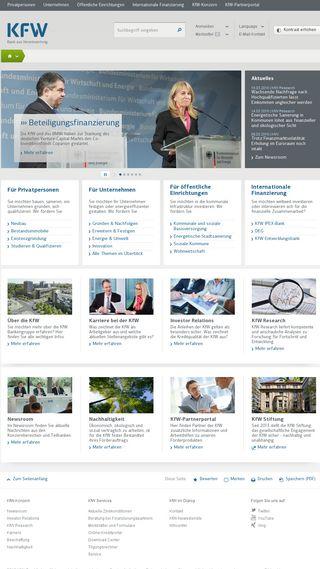 Mobile preview of kfw.de