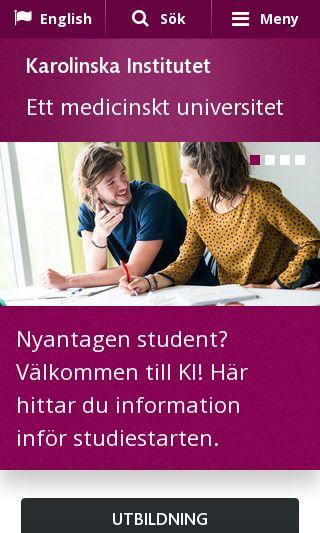 Mobile preview of ki.se