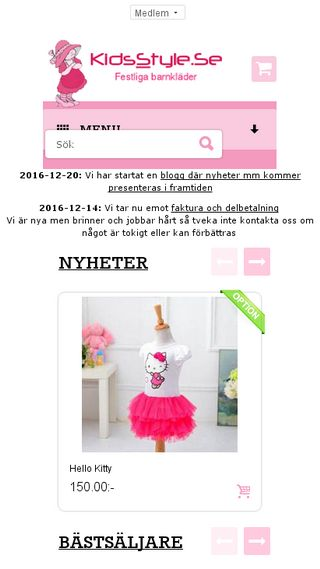 Mobile preview of kidsstyle.se