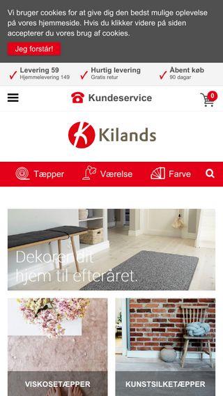 Mobile preview of kilands.dk