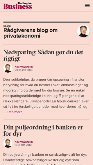 Mobile preview of kimvalentin.blogs.business.dk