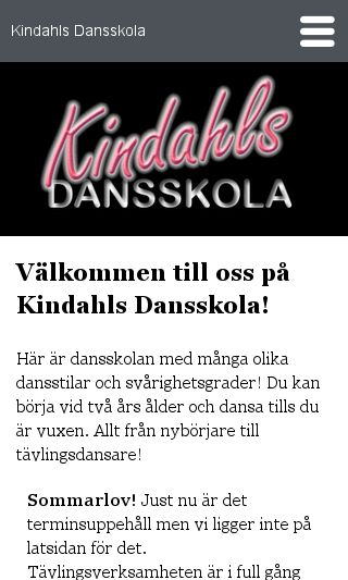 Mobile preview of kindahlsdansskola.se