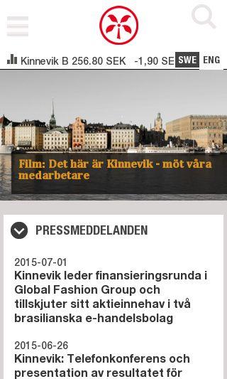 Mobile preview of kinnevik.se