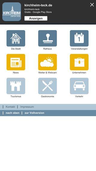 Mobile preview of kirchheim-teck.de