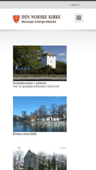 Mobile preview of kirken.stavanger.no