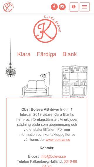 Mobile preview of klarablank.se