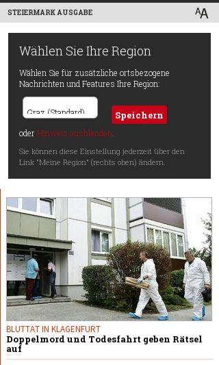 Mobile preview of kleinezeitung.at
