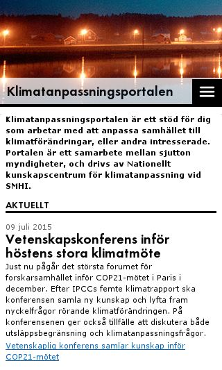 Mobile preview of klimatanpassning.se