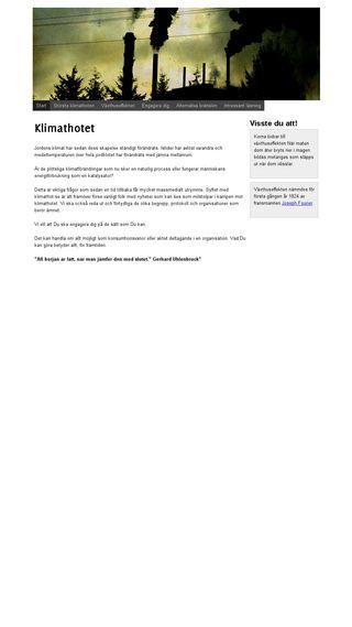 Mobile preview of klimathot.se