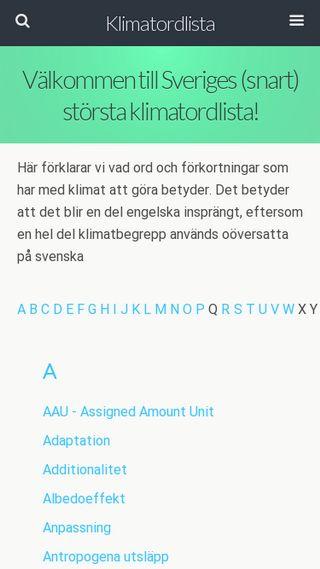 Mobile preview of klimatordlista.se