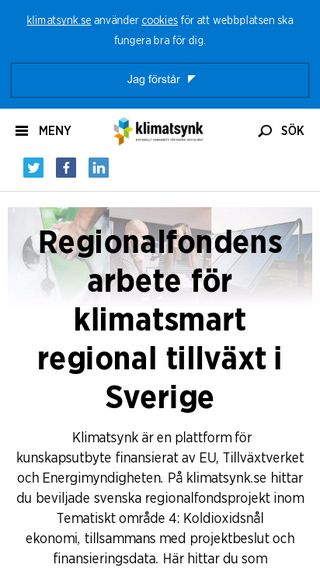 Mobile preview of klimatsynk.se
