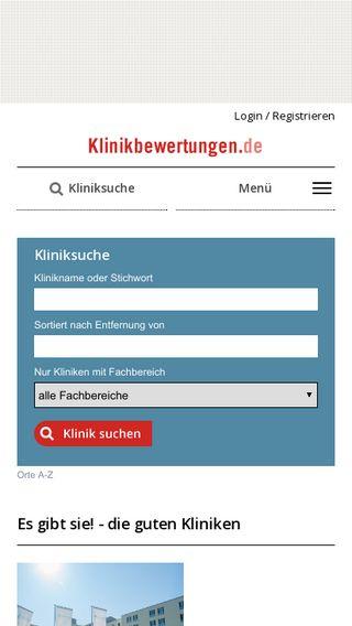 Mobile preview of klinikbewertungen.de