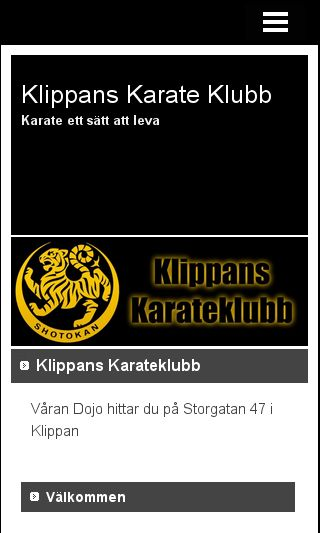 Mobile preview of klippanskarateklubb.se