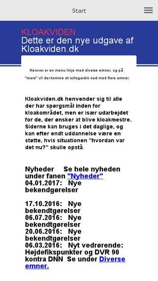Mobile preview of kloakviden.dk