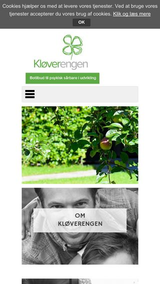 Mobile preview of kloeverengen.dk