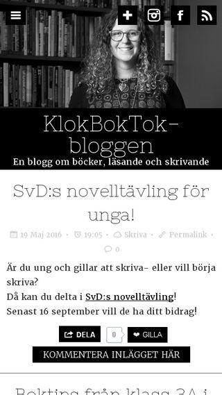 Mobile preview of klokboktok.nu