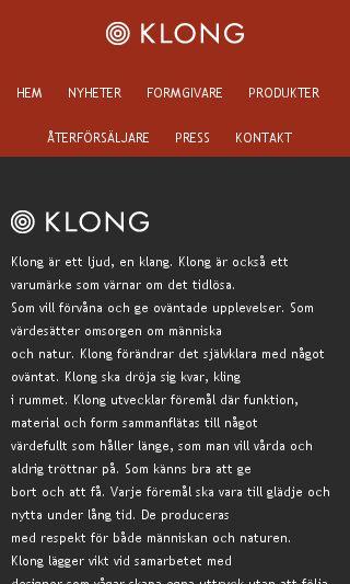Mobile preview of klong.se
