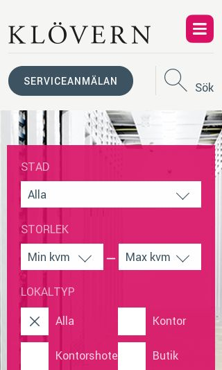 Mobile preview of klovern.se